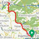 Map image of a Route from October  9, 2018