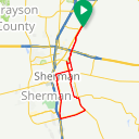 Map image of a Route from October 15, 2018