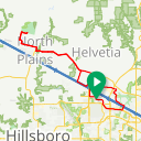 Map image of a Route from October 16, 2018