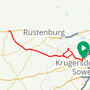 Map image of a Route from October 18, 2018