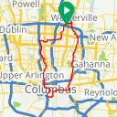 Map image of a Route from October 20, 2018