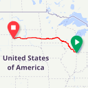 Map image of a Route from October 24, 2018