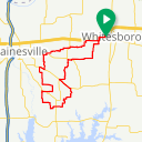 Map image of a Route from October 26, 2018