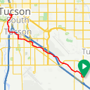 Map image of a Route from October 29, 2018