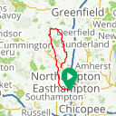 Map image of a Route from November  3, 2018
