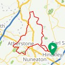 Map image of a Route from November 10, 2018