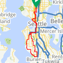 Map image of a Route from November 11, 2018