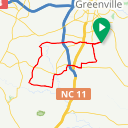 Map image of a Route from November 16, 2018