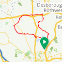 Map image of a Route from November 17, 2018