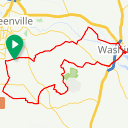 Map image of a Route from November 21, 2018