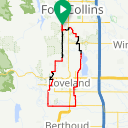 Map image of a Route from November 27, 2018