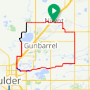 Map image of a Route from November 28, 2018