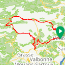 Map image of a Route from December  1, 2018