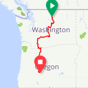 Map image of a Route from December 11, 2018