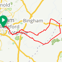 Map image of a Route from December 15, 2018