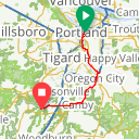 Map image of a Route from December 26, 2018