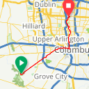 Map image of a Route from December 27, 2018