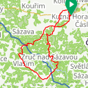 Map image of a Route from January  1, 2019