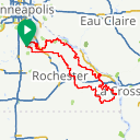Map image of a Route from January  4, 2019