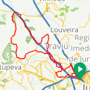 Map image of a Route from January  5, 2019