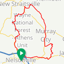 Map image of a Route from January  8, 2019