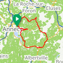 Map image of a Route from January 12, 2019