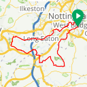 Map image of a Route from February  8, 2019