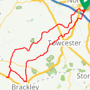 Map image of a Route from February 14, 2019