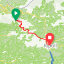Map image of a Route from February 22, 2019