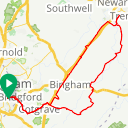Map image of a Route from March  1, 2019