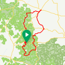 Map image of a Route from March 12, 2019