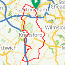 Map image of a Route from March 22, 2019
