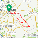 Map image of a Route from April 16, 2019