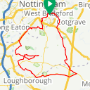 Map image of a Route from April 25, 2019