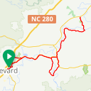 Map image of a Route from May  2, 2019