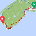 Map image of a Route from May 12, 2019