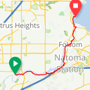 Map image of a Route from May 19, 2019