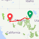 Map image of a Route from June 22, 2019