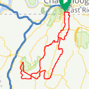 Map image of a Route from June 28, 2019