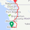 Map image of a Route from July  4, 2019