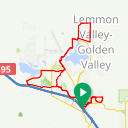 Map image of a Route from July 10, 2019