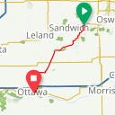 Map image of a Route from August 10, 2013