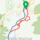 Map image of a Route from August 11, 2019