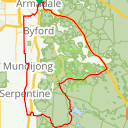 Map image of a Route from August 12, 2019