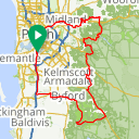 Map image of a Route from August 13, 2019