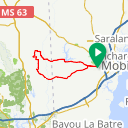 Map image of a Route from October 12, 2019