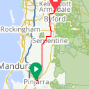 Map image of a Route from October 14, 2019