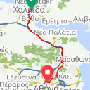 Map image of a Route from August 20, 2013