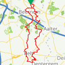 Map image of a Route from January 17, 2020