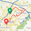 Map image of a Route from August 25, 2013